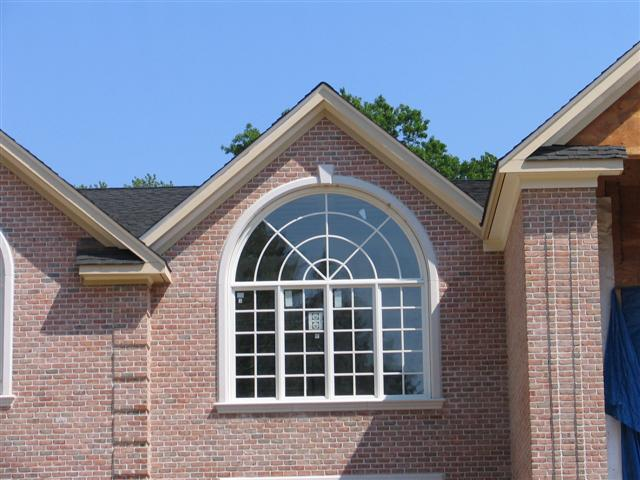 custom window with stone