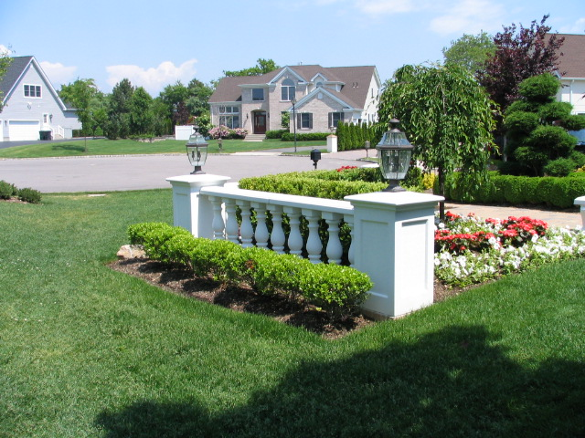 baluster on landscape