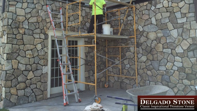 Split Fieldstone Mosaic Wall