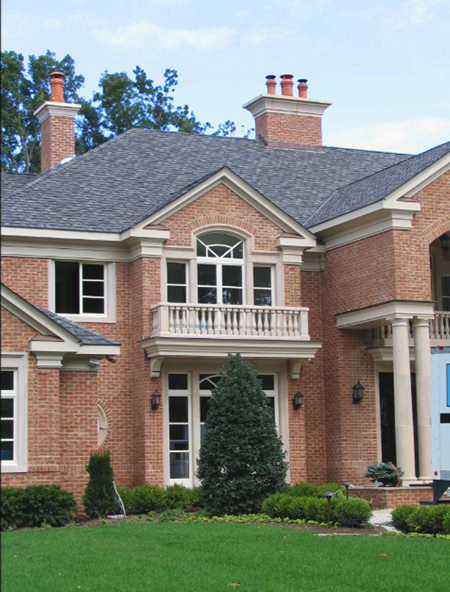 brick house and window with barrasso precast