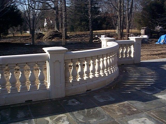 concrete railing
