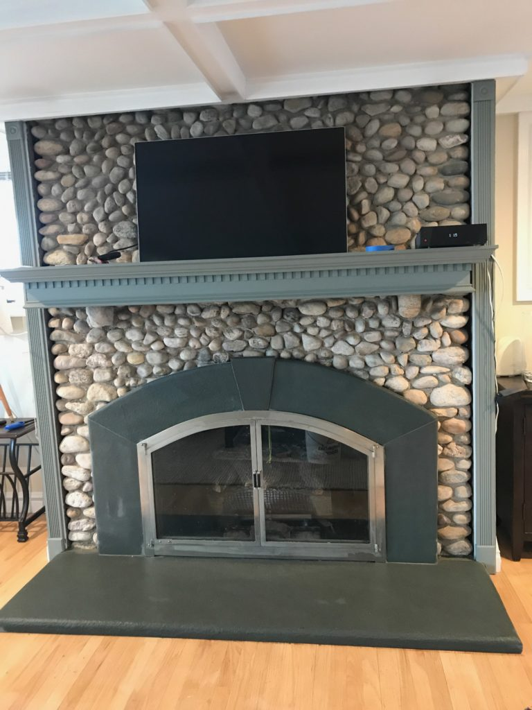 radius bluestone fire place