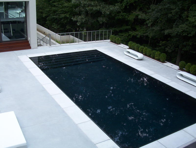 modern pool white pool coping