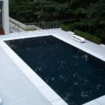 modern pool white pool coping