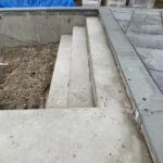 rock face bluestone coping
